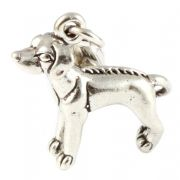 Ridgeback Dog Sterling Silver Clip On Charm - With Clasp